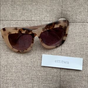 Anthro Sunglasses - Oversized Tortoiseshell
